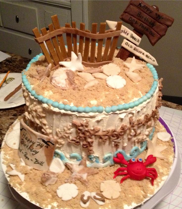 Beach themed birthday cake pinterest for Couchtisch 1 00 x 1 00