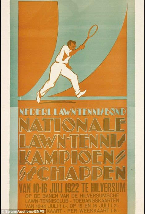 Nationale Lawn-Tennis Kampionschappen (1922), by, Louis C. Kalff, estimated at $5,000-$7,500