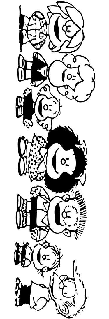 Vinilo decorativo personajes Mafalda