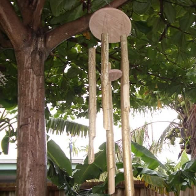 With their soothing sounds, wind chimes make a terrific addition to any backyard, deck or patio.  If you buy them in a store, they also can be rather pricey.  Ironically, they are relatively easy to build.  In this set of free woodworking plans, we show you how to build a bamboo wind chime.  This is a fun woodworking project to build, one that you can easily make with your kids!