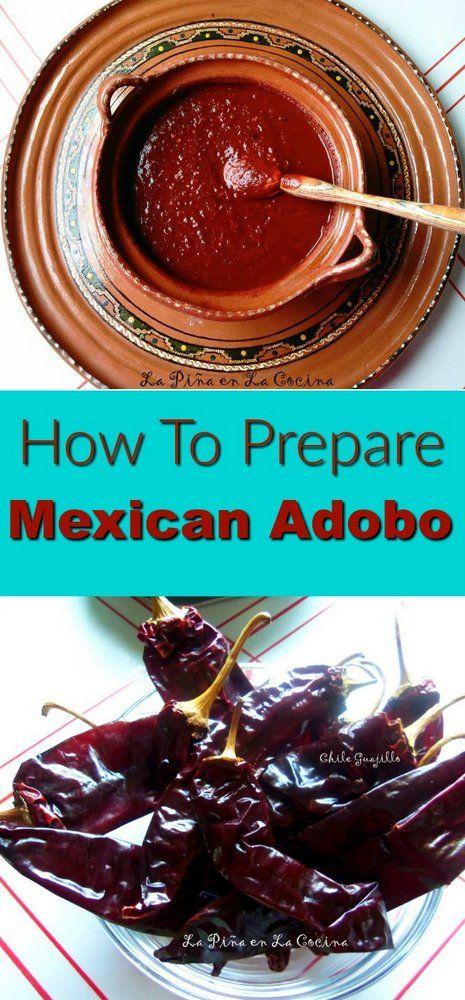 How To Prepare Mexican Adobo #mexicanadobo #driedchiles