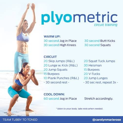 Plyometric Workout Challenge: 67 Best GET Fit Images On Pinterest