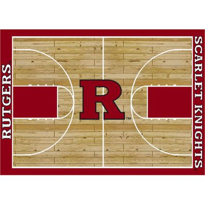 My Team by Milliken NCAA Court Rutgers Novelty Rug Rug Size: