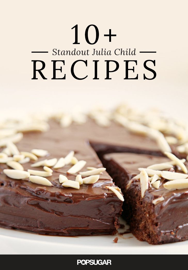 Should you find yourself craving one of the culinary matron's masterpieces, flip on some reruns of The French Chef or In Julia's Kitchen With Master Chefs, then make yourself an authentic French recipe from scratch, courtesy of JC. Here are a handful of our favorite ideas.