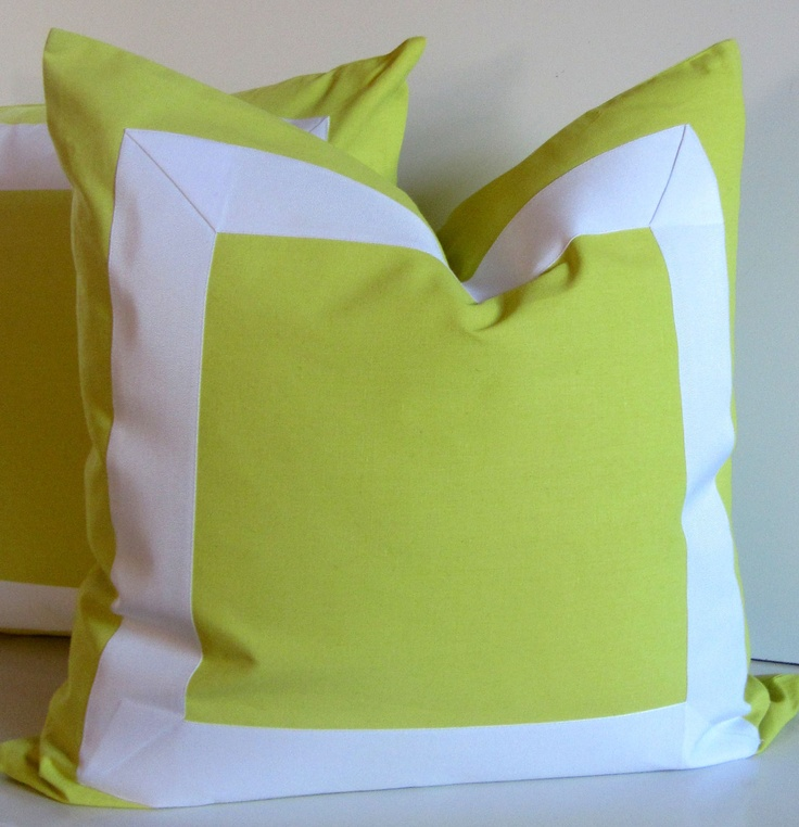 set of two citron pillows 20 22 or 24 inch decorative pillow
