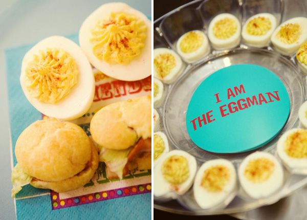 I am the Eggman Deviled Eggs and Yellow SUBmarine Sandwiches