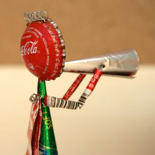 Homemade Toys: Elephant Legs with Cans