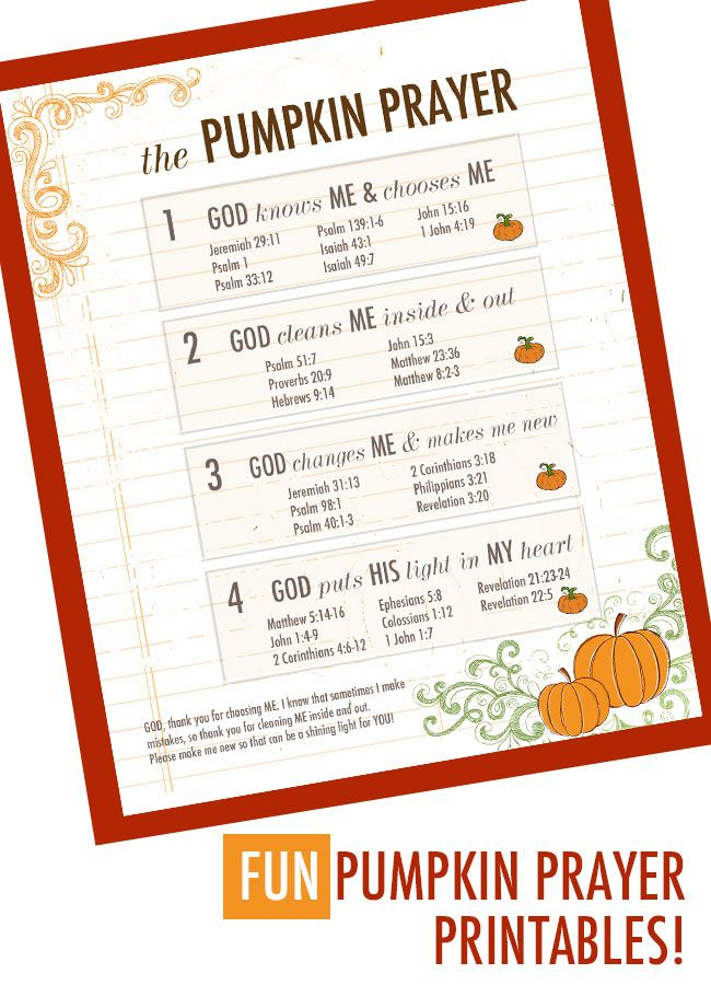 photograph relating to Pumpkin Prayer Printable called Pumpkin Prayer Printable Materials Christ Primarily based