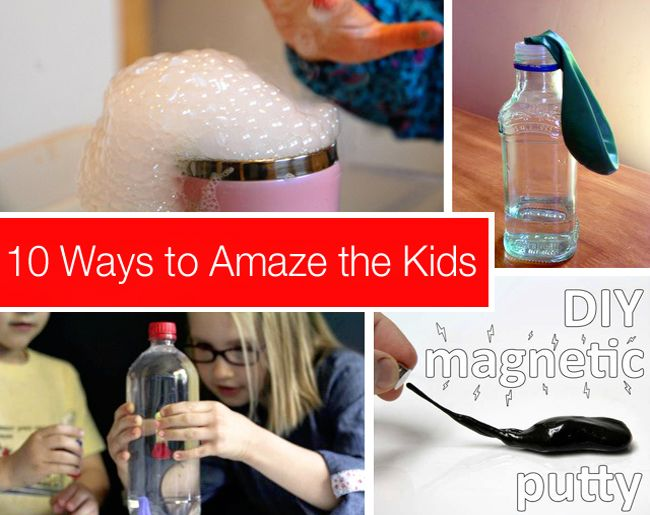 I thought now might be a good time to sharpen up our science skills. (Plus, the last science at home post was a big hit.) So today I've rounded up 10 more experiments sure to surprise and delight your kiddos. In no particular order, here they are: #1 – 5: Reactions! Fun Science Activities …