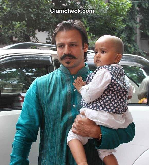 Vivek Oberoi with son Vivaan Veer