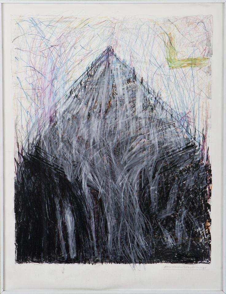 Jan Kenneth Weckman, 1983, sekatekniikka, 55x45 cm - Hagelstam A132