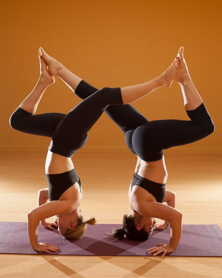 Partner Yoga Once I Can Get A Head Stand Want To Do This With Allison
