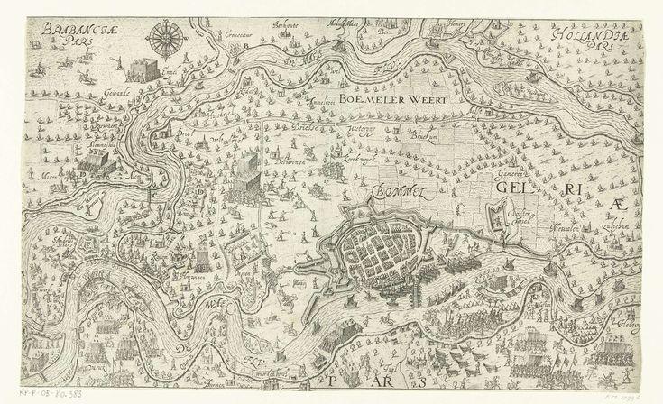 Belegering van Zaltbommel en andere sterkten in de Bommelerwaard en de bouw van Sint-Andries, 1599, toegeschreven aan Bartholomeus Willemsz. Dolendo, 1600 - 1601