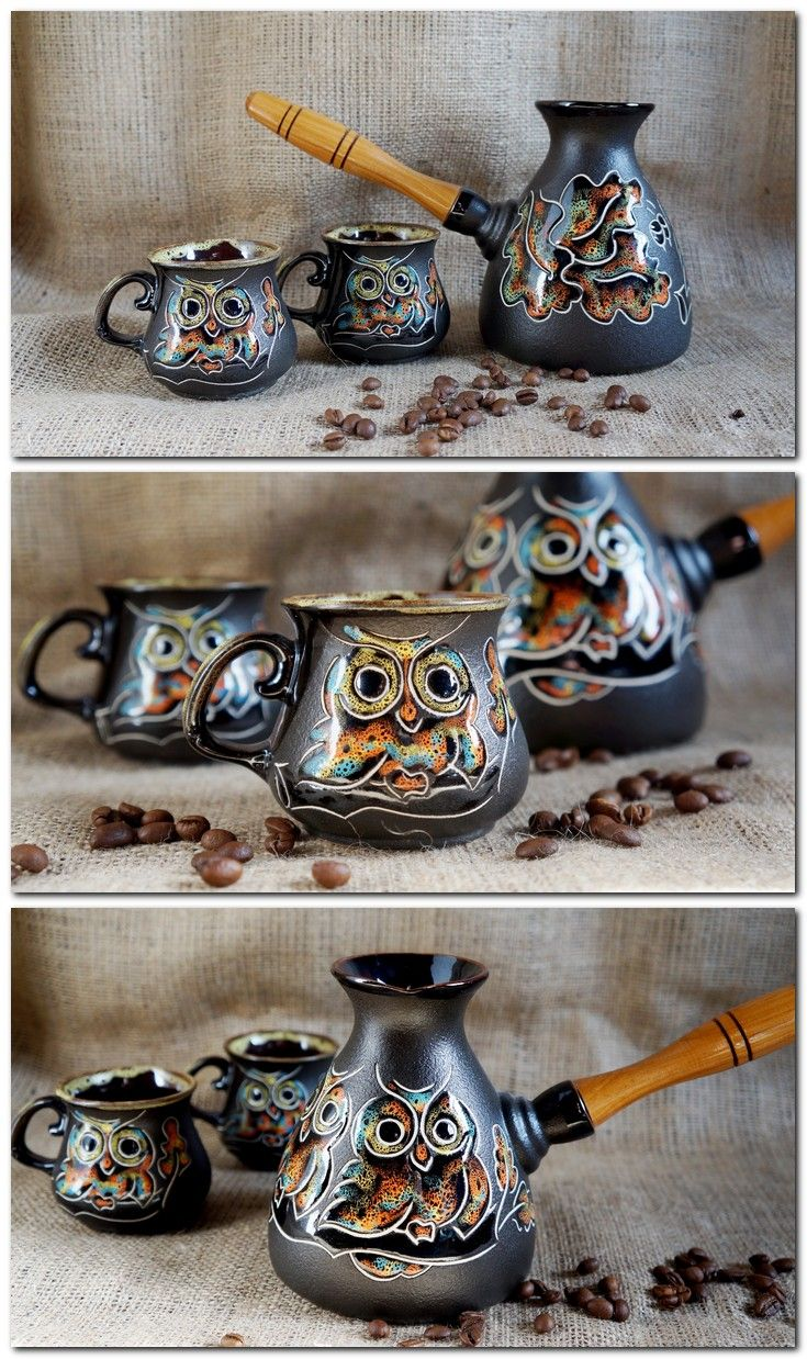 #turkish coffee pot #ceramic coffee maker #black  coffee