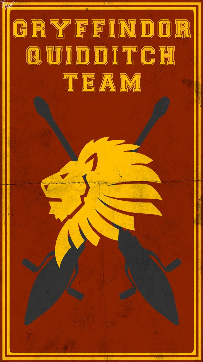 Quidditch Team Poster: Gryffindor by TheLadyAvatar on deviantART