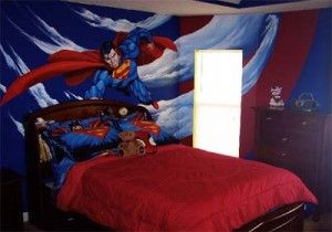 Superman Wall Decals for Kids Bedroom Image 313 300x210 Superman Bedroom Decorating Ideas