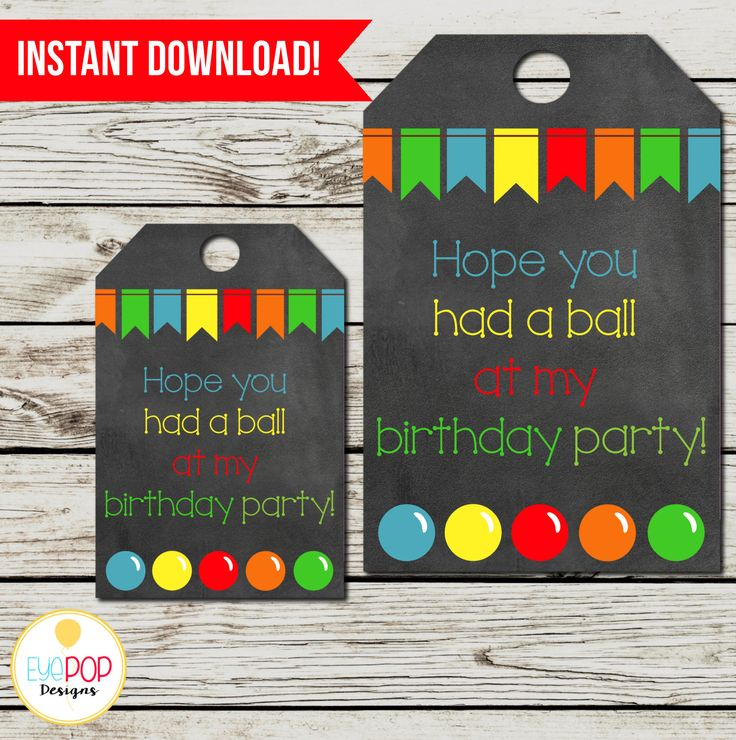 BOUNCE HOUSE Favor Tags, Jumping Birthday Party, Jump Party, Colorful, Chalkboard, Printable, Instant Download