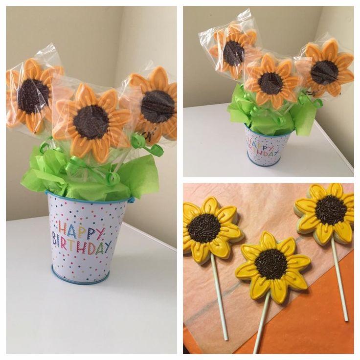 Sunflower cookie basket