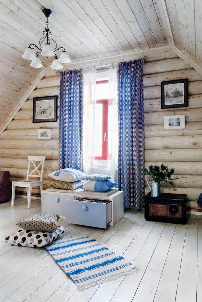HappyModern.RU | Дома из оцилиндрованного бревна (проекты, 57 фото): традиции и современность | http://happymodern.ru