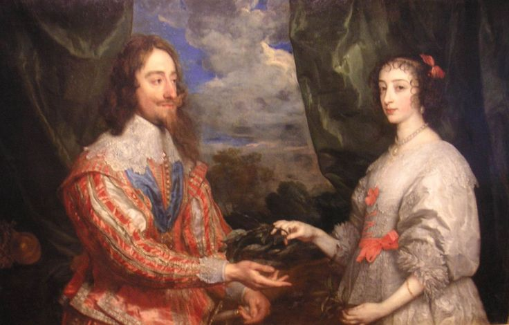 Anthony van Dyck (1599–1641) Portrait of Charles I of England with his wife, Henrietta Maria
