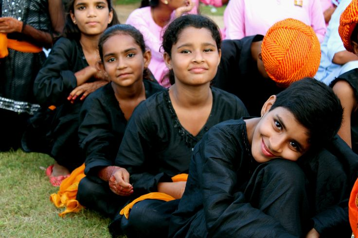 Children of the Tushita foundation ready to perform, Amber, Rajasthan, India