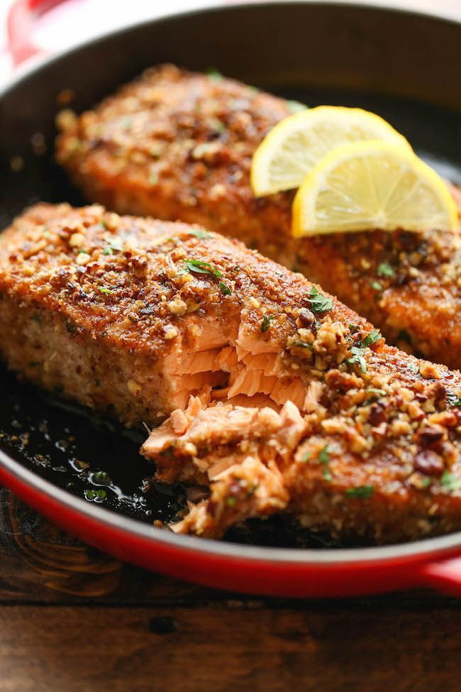 ... Crusted Salmon on Pinterest | Salmon, Salmon Recipes and Pecan Crusted