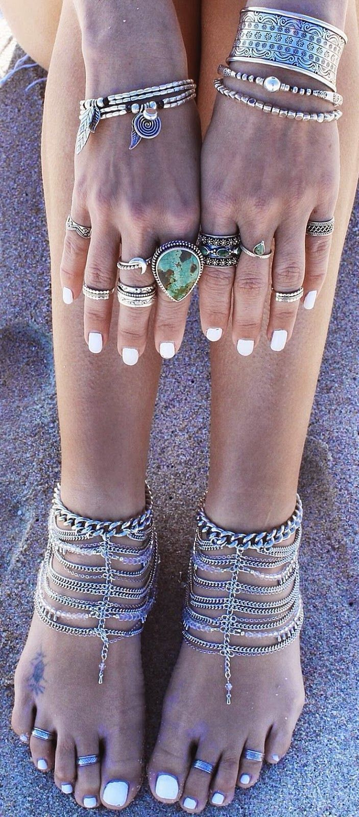 Boho jewelry for your hands and feet,.Fashion ring