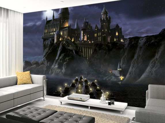 First Time To Hogwarts Wall Mural Living Room Preview · Harry Potter ...