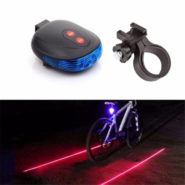 G0 Fahrrad Zubehör 2 Laser + 5 LED Blinkt Lampe Rücklicht Radfahren Fahrrad Schwanz Sicherheit Blau Klassische Heiße