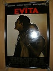 EVITA THEATER MOVIE POSTER 27 X 40 DOUBLE SIDED - MADONNA  ANTONIO BANDERAS - amp, ANTONIO, BANDERAS, DOUBLE, EVITA, MADONNA, Movie, Poster, SIDED, Theater