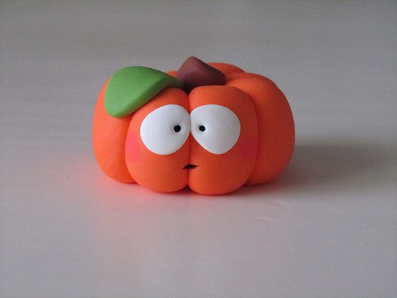 Polymer Clay Halloween Pumpkin Figure