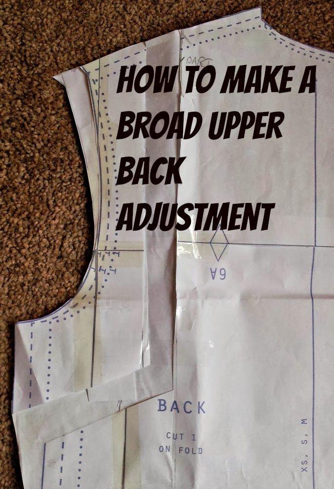 How to Make a Broad Upper Back Adjustment - Kestrel Makes