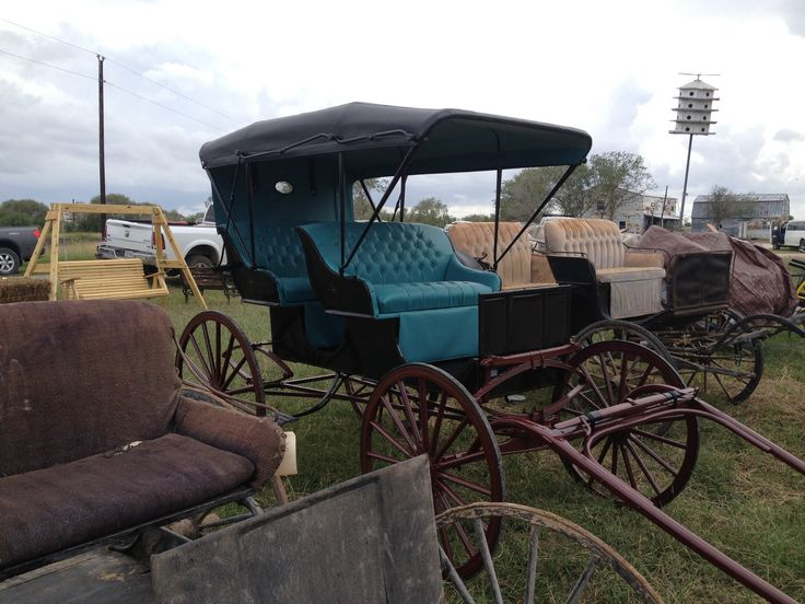 buggies for sale at Bee County Amish District's annual fundraising auction in November.