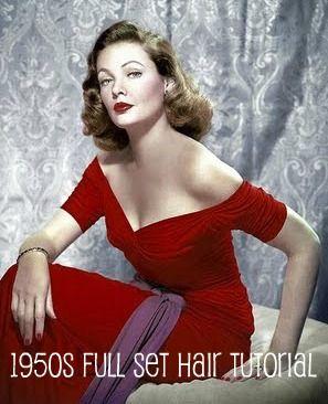 Pin up girl hair tutorial - The glamorous housewife blog