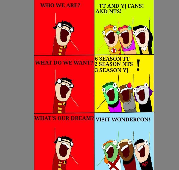 6th season teen titans  3rd season young justice  2nd season nightwing the series