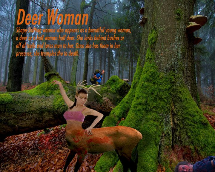 Mythological creature project Deer Woman