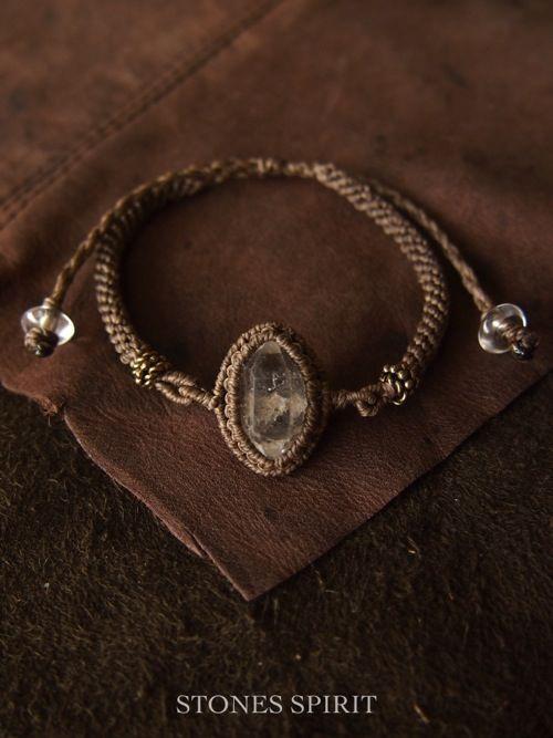 ハーキマーダイヤモンドブレスレット - STONES SPIRIT ストーンズスピリット 天然石×マクラメアクセサリー
