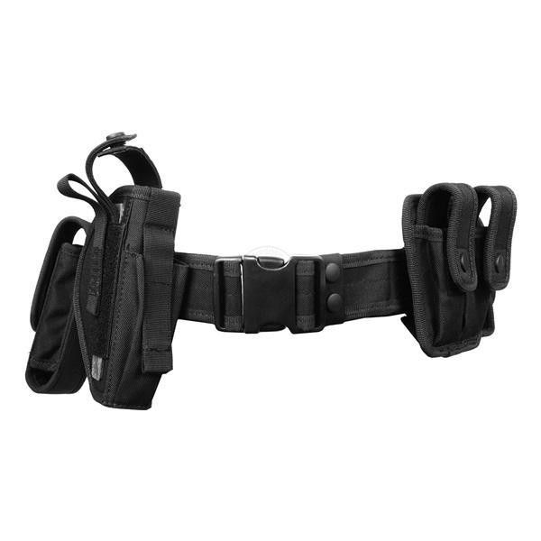 FDG Tactical Utility Belt with Holster Modular Duty Gear BLACK ($30) ❤ liked on Polyvore featuring accessories, belts, weapons, bags and black belt