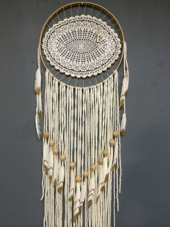 Large Elegant Eye White Dreamcatcher by Rachael Rice: http://cosmicamerican.etsy.com