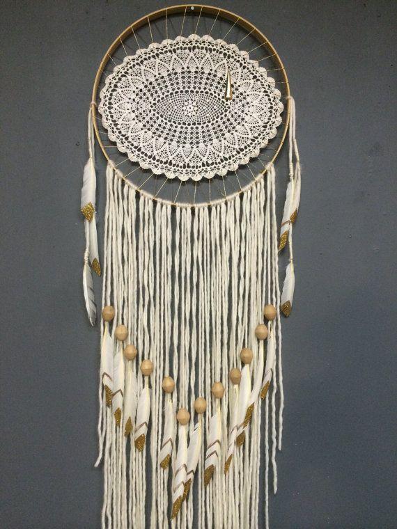 Large Elegant Eye White Dreamcatcher by Rachael Rice: http://cosmicamerican.etsy.com
