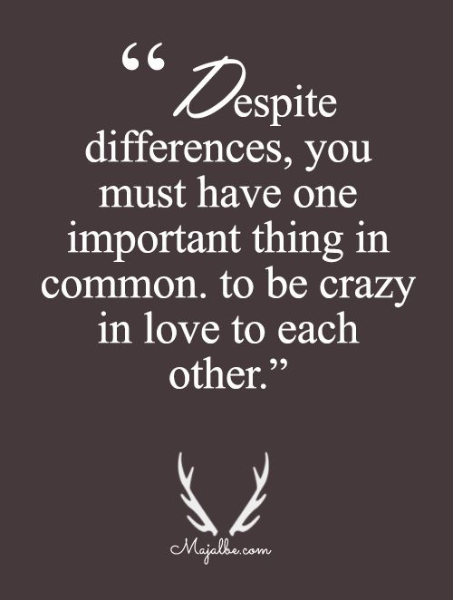 One Important Thing In Common Love Quotes