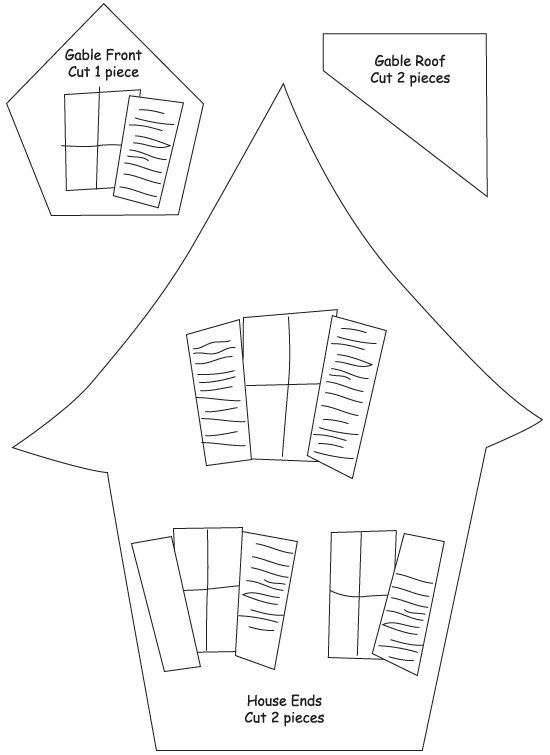 Haunted House Template Printable | ASSEMBLE the small gable window in the same way that the roof was just ...