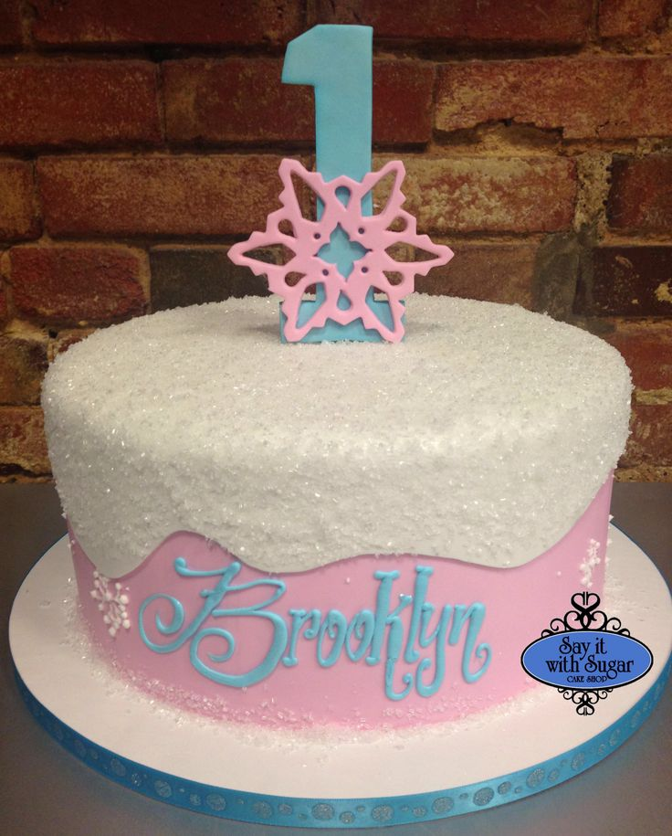 Cute Snowflake First Birthday Cake Cakes By Say It With