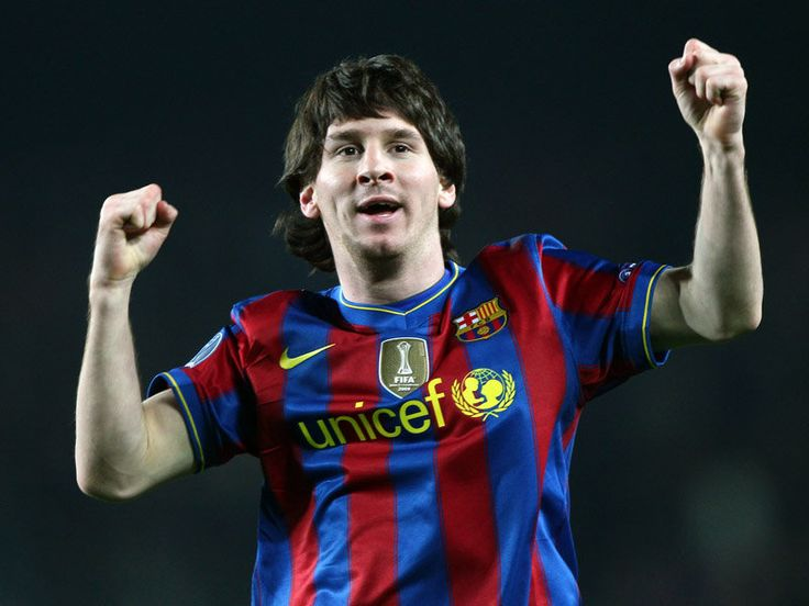 Lionel Messi. Feet of a god, hair of De Burgh.