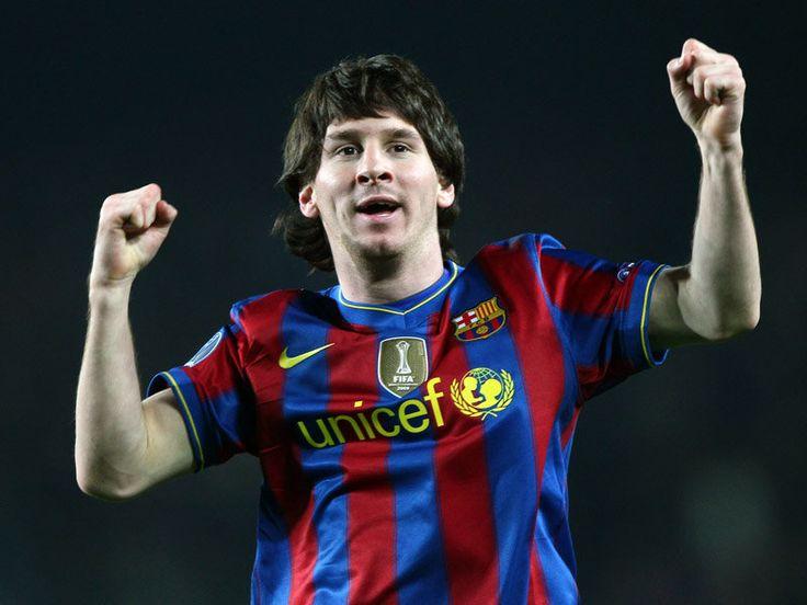 Lionel Messi. Feet of a god, hair of De Burgh.