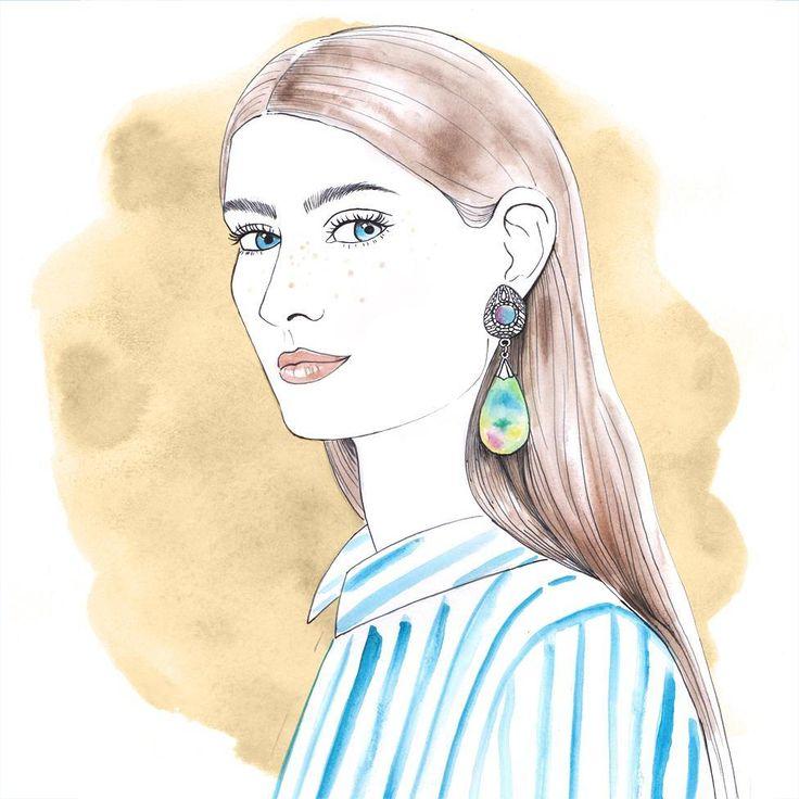 #illustration #fashion #jewellery #earring
