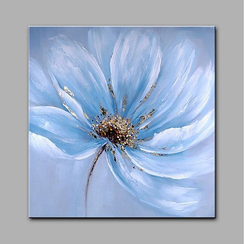 Oil Painting Hand Painted – Floral / Botanical Modern Canvas / Rolled Canvas
