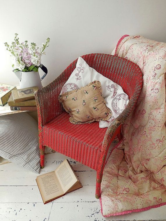Painted vintage Lloyd Loom chair by EmmaAtLHV on Etsy