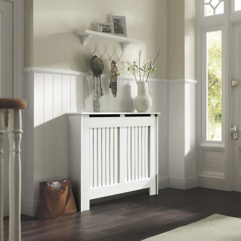 Kensington White Radiator Cover