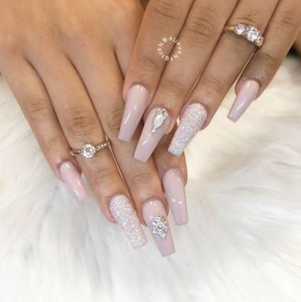 48 trendy nails acrylic simple classy bling nails